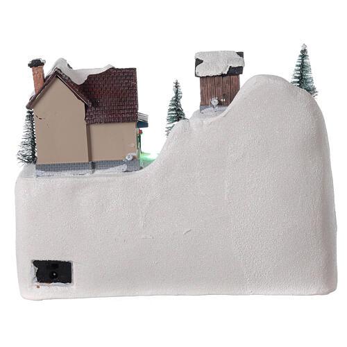 Christmas tree village sleds light music 20x25x15 cm 5