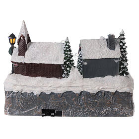 Christmas village frozen fountain multi-color LEDs 20x25x20 cm s5