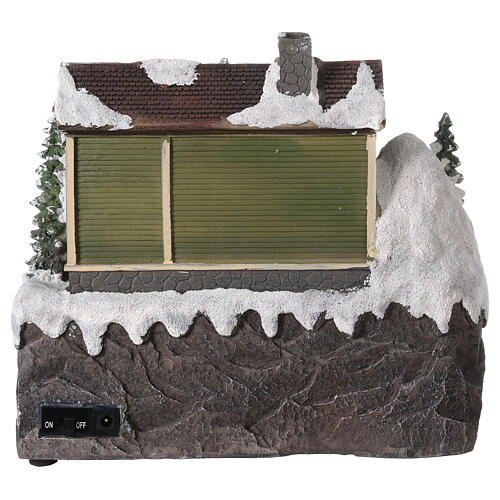 Christmas village fountain transparent tree lighted river 25x30x25 cm 5
