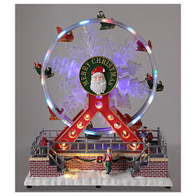 Ferris wheel Christmas snowflake LED music 25x25x15 cm s2