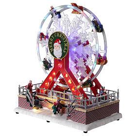 Ferris wheel Christmas snowflake LED music 25x25x15 cm s3