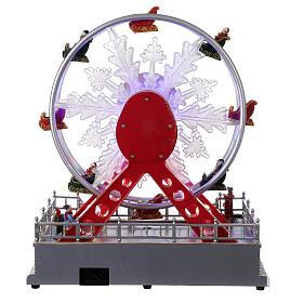 Ferris wheel Christmas snowflake LED music 25x25x15 cm s5