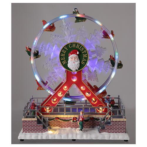 Ferris wheel Christmas snowflake LED music 25x25x15 cm 2