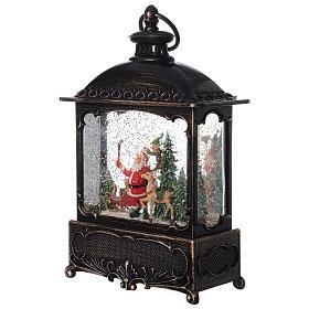 Square lantern snow globe Santa Claus LED 30x20x10 cm s3