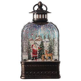 Snow globe lantern Santa Claus town 25x15x5 cm s1
