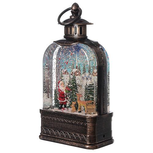Snow globe lantern Santa Claus town 25x15x5 cm 3