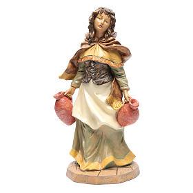 Statue per presepi: Donna con brocche per presepe di 45 cm