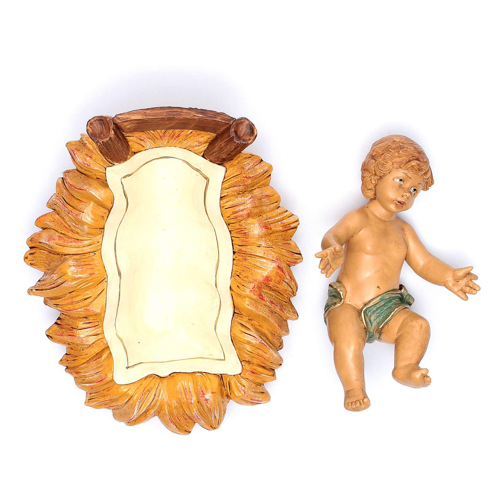 Nativity scene Baby Jesus in manger, 45 cm 3