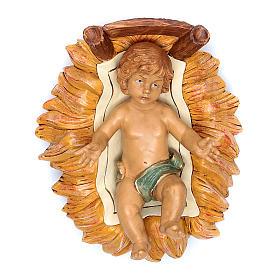 Nativity scene Baby Jesus in manger, 45 cm s1