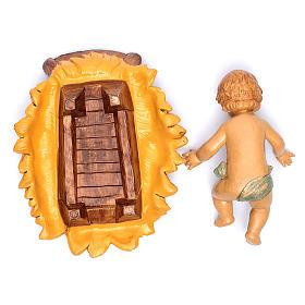 Nativity scene Baby Jesus in manger, 45 cm s5