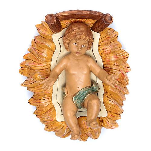 Nativity scene Baby Jesus in manger, 45 cm 1