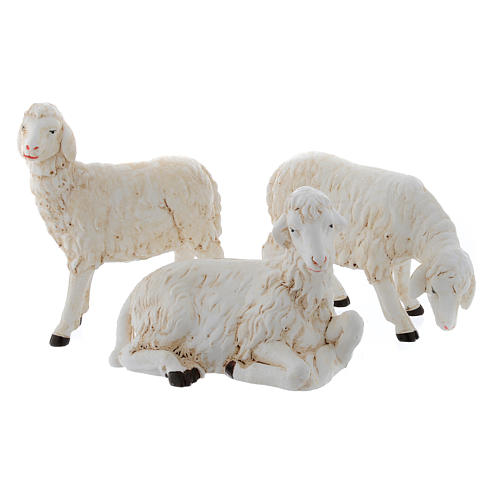 Sheep for nativity scene set of 3 pieces 1