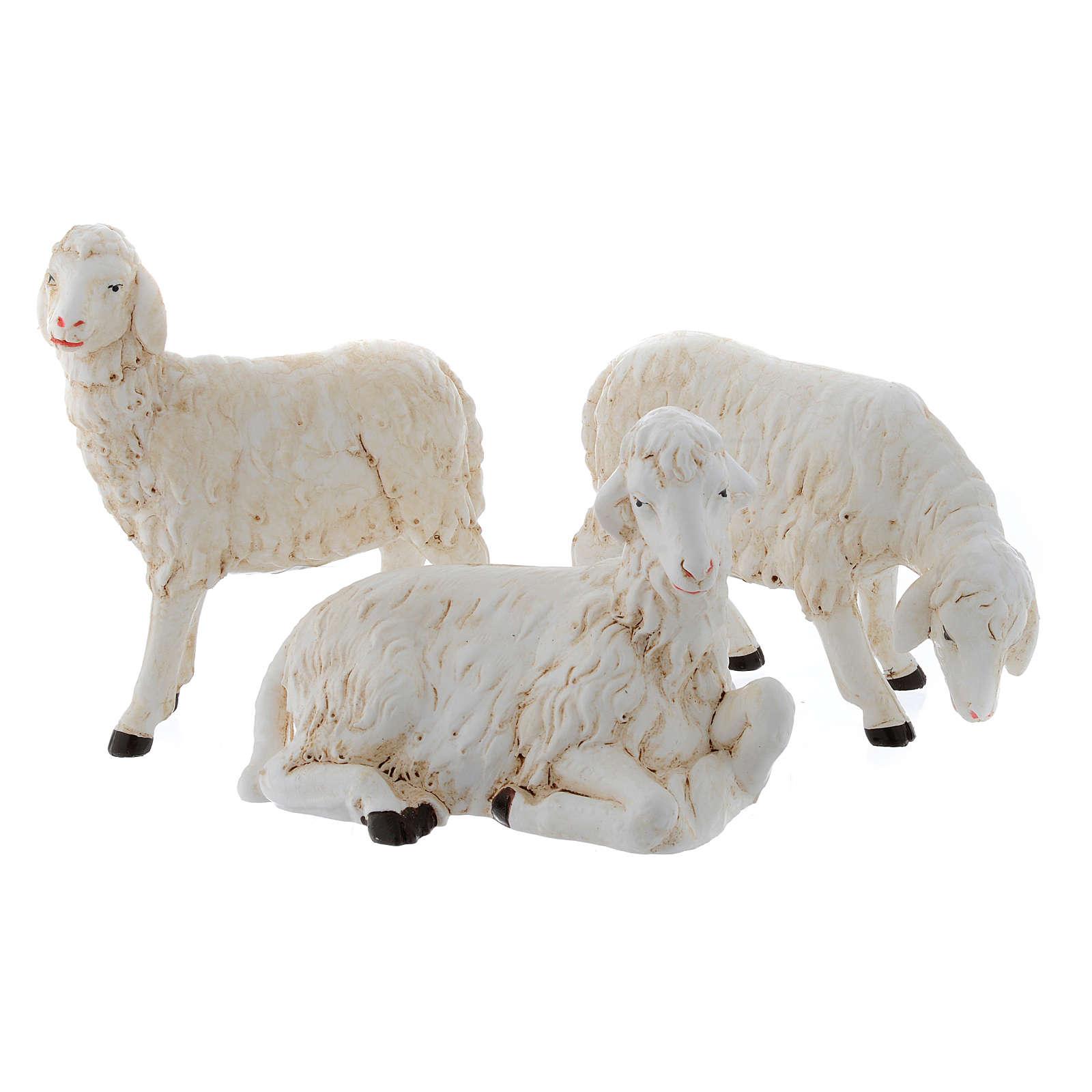 Moutons pour crèche set 3 pcs 40-45 cm 3