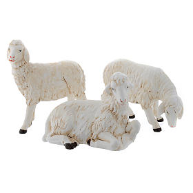 Sheep for nativity scene set of 3 pieces s1