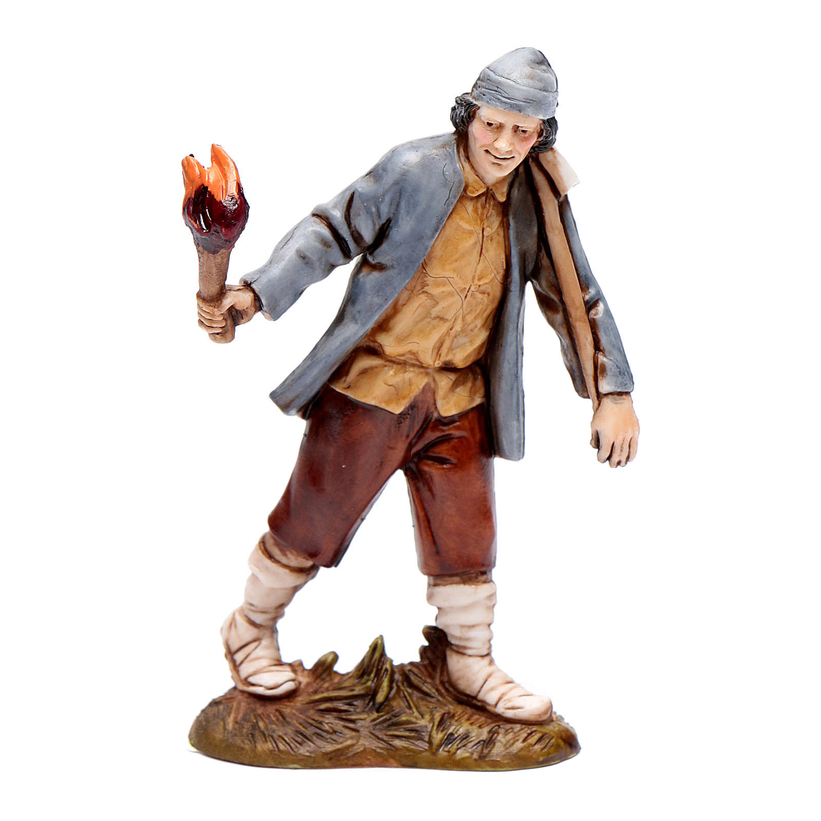 Man with torch 10cm '700 style, Moranduzzo Nativity Scene  4