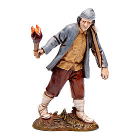 Man with torch 10cm '700 style, Moranduzzo Nativity Scene  s1