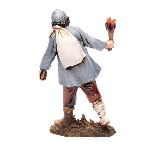 Man with torch 10cm '700 style, Moranduzzo Nativity Scene  2