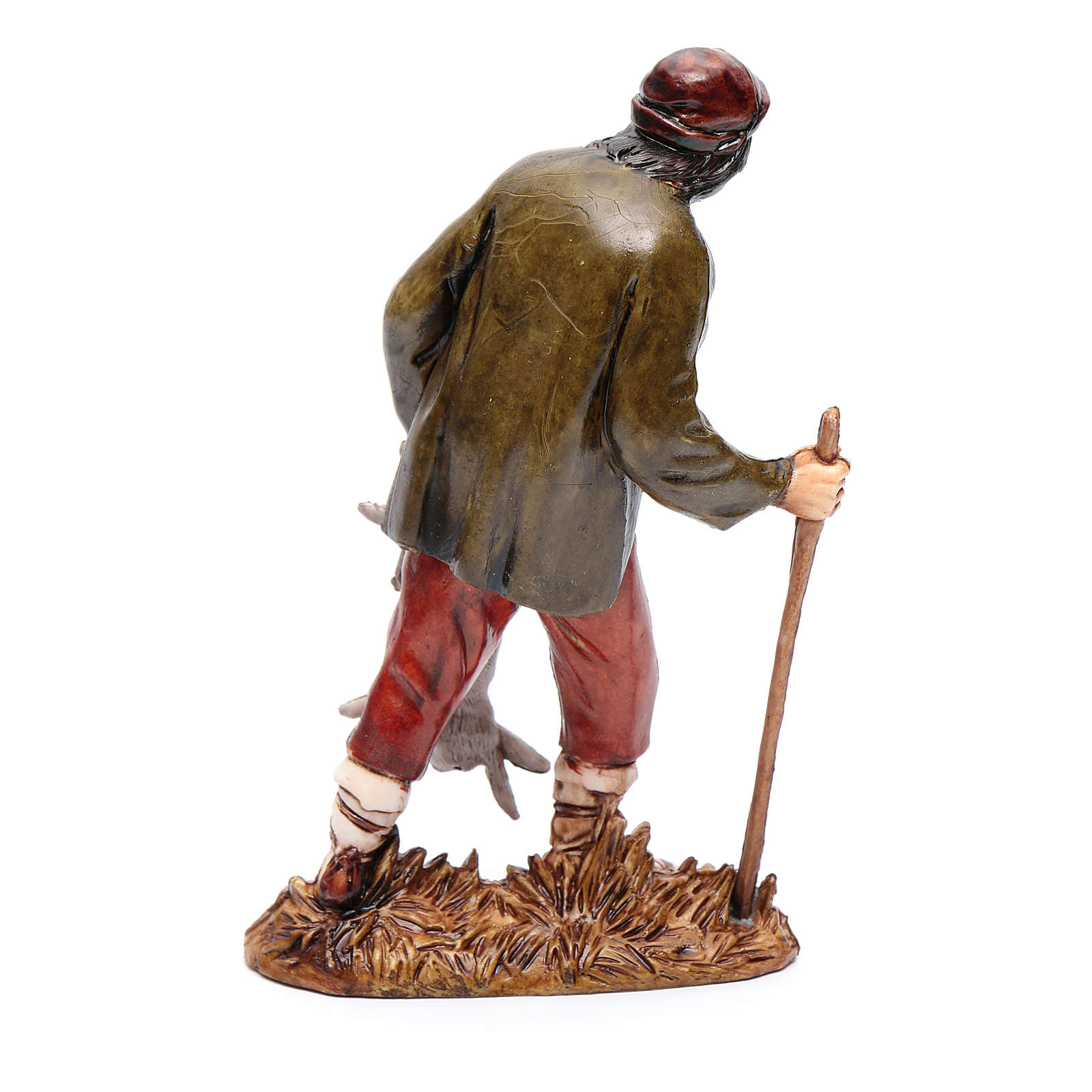 Cacciatore con lepre 12 cm Moranduzzo stile settecento 4