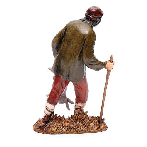Cacciatore con lepre 12 cm Moranduzzo stile settecento 2