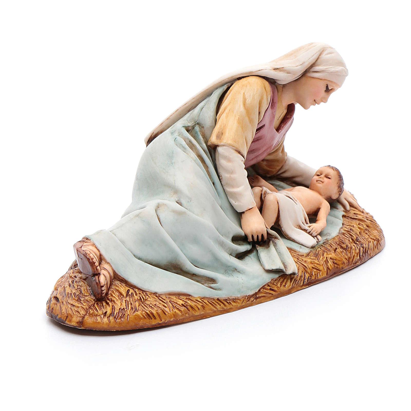 Madonna sdraiata con bimbo 13 cm Moranduzzo 4