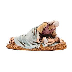 Madonna sdraiata con bimbo 13 cm Moranduzzo s1