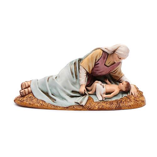 Madonna sdraiata con bimbo 13 cm Moranduzzo 1