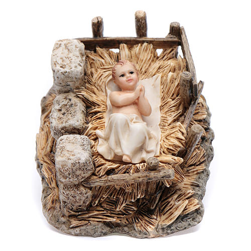 9962bf0a3cf Niño Jesús con cuna resina 15 cm Moranduzzo 1