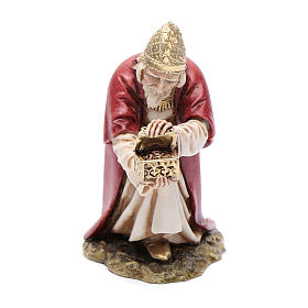Nativity Scene by Moranduzzo: Kneeling white Wise King 15cm, Moranduzzo