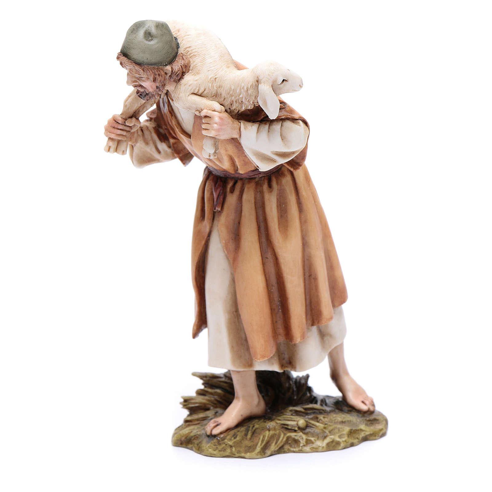 Buon pastore 15 cm resina Moranduzzo 4
