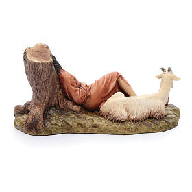 Dormente con capra 15 cm resina Moranduzzo s4