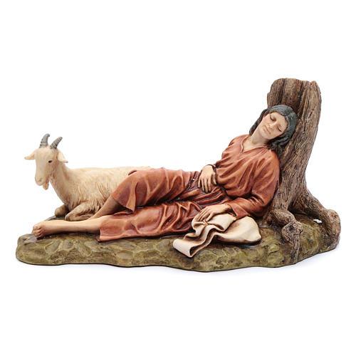 Dormente con capra 15 cm resina Moranduzzo 1