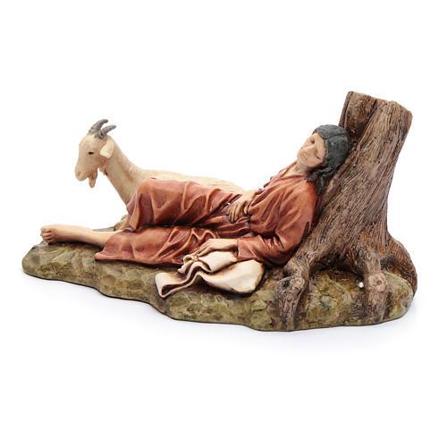 Dormente con capra 15 cm resina Moranduzzo 3