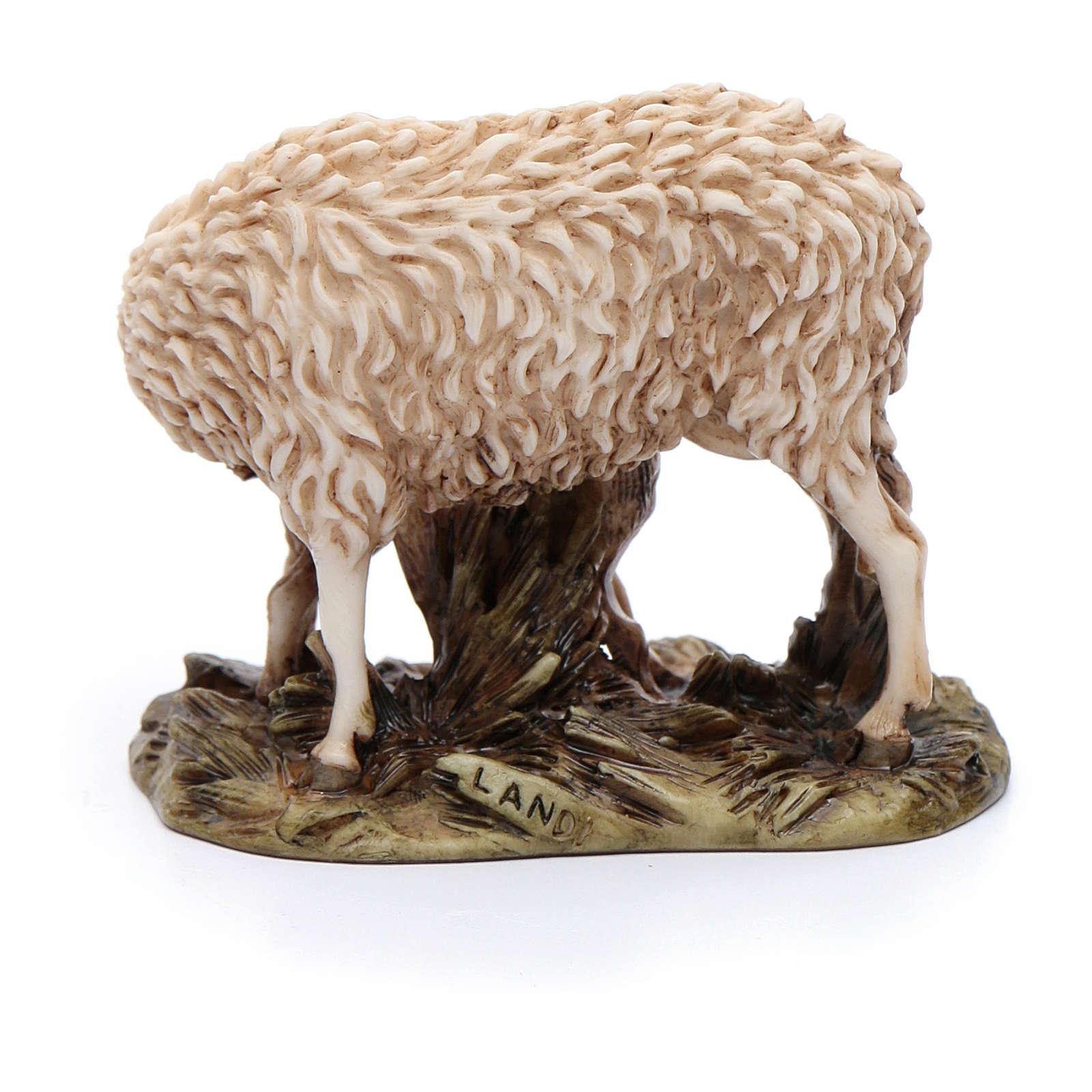 Pecora e agnellino 15 cm resina Moranduzzo 4