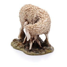 Pecora e agnellino 15 cm resina Moranduzzo s2