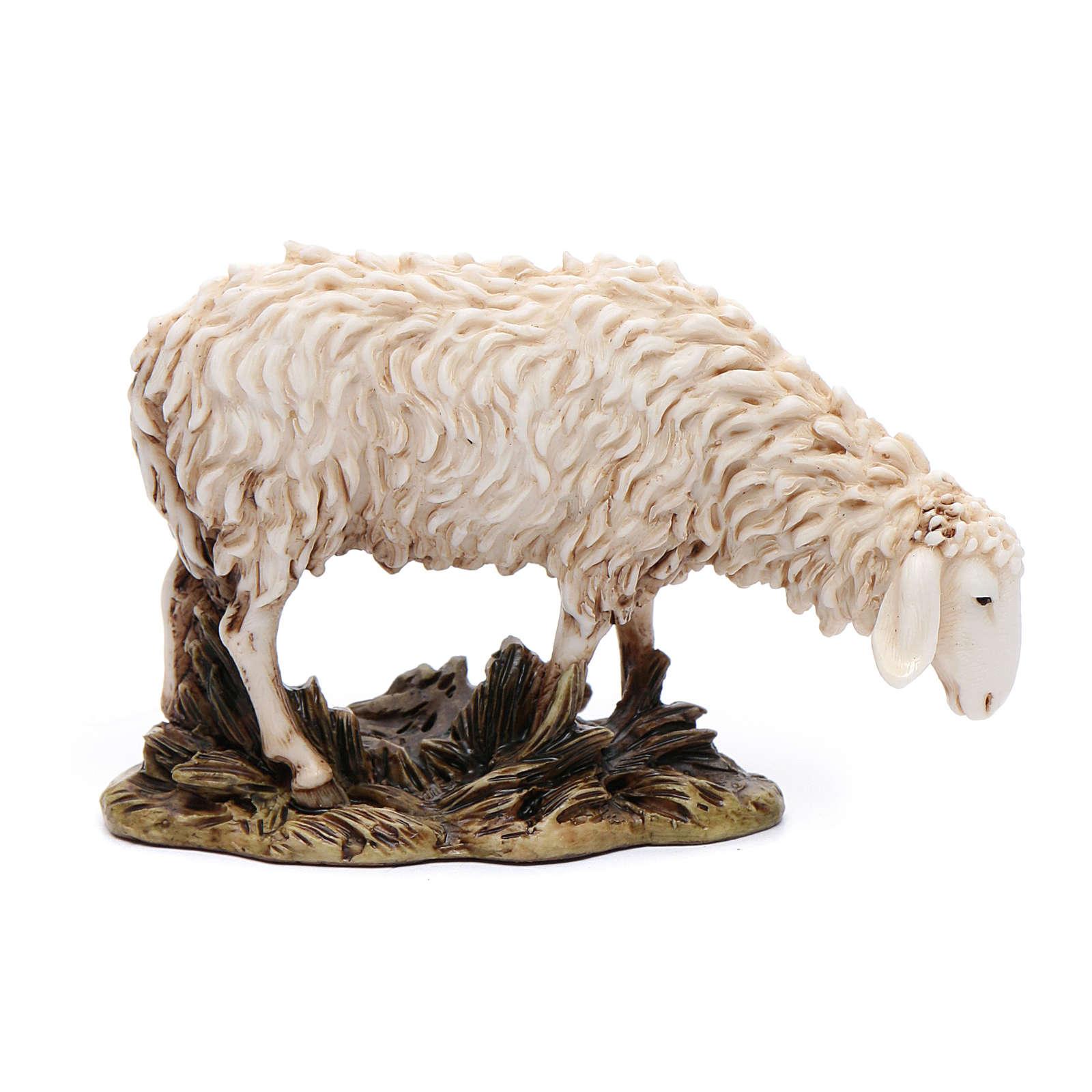Pecora che bruca 15 cm resina Moranduzzo 4