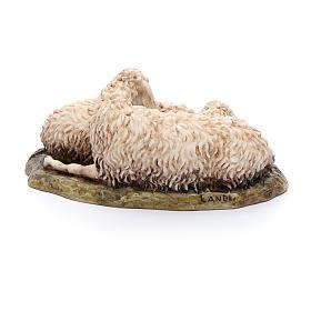 Pecore sdraiate 15 cm resina Moranduzzo s3