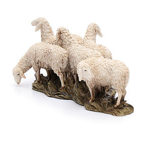 Gregge 6 pecore 15 cm resina Moranduzzo s4