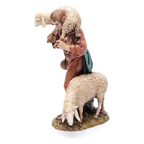 Buon pastore 20 cm resina Moranduzzo 2