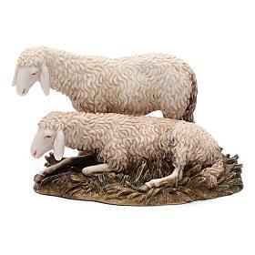 Gruppo 2 pecore 20 cm resina Moranduzzo s1