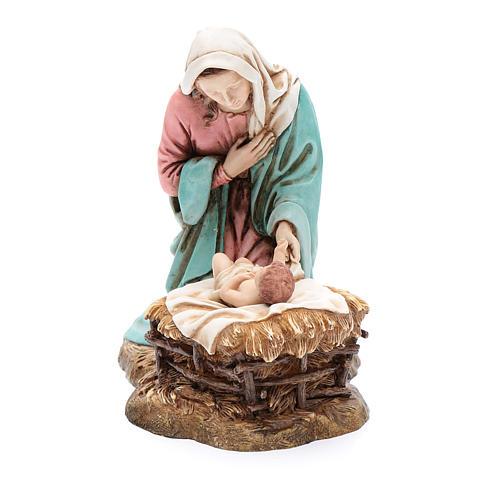 Vírgen María con Niño Jesús en cuna 20 cm Moranduzzo 1
