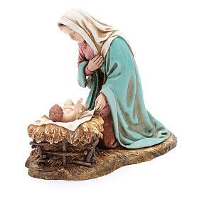 Virgin Mary and Baby Jesus in cradle statues 20 cm Moranduzzo s2