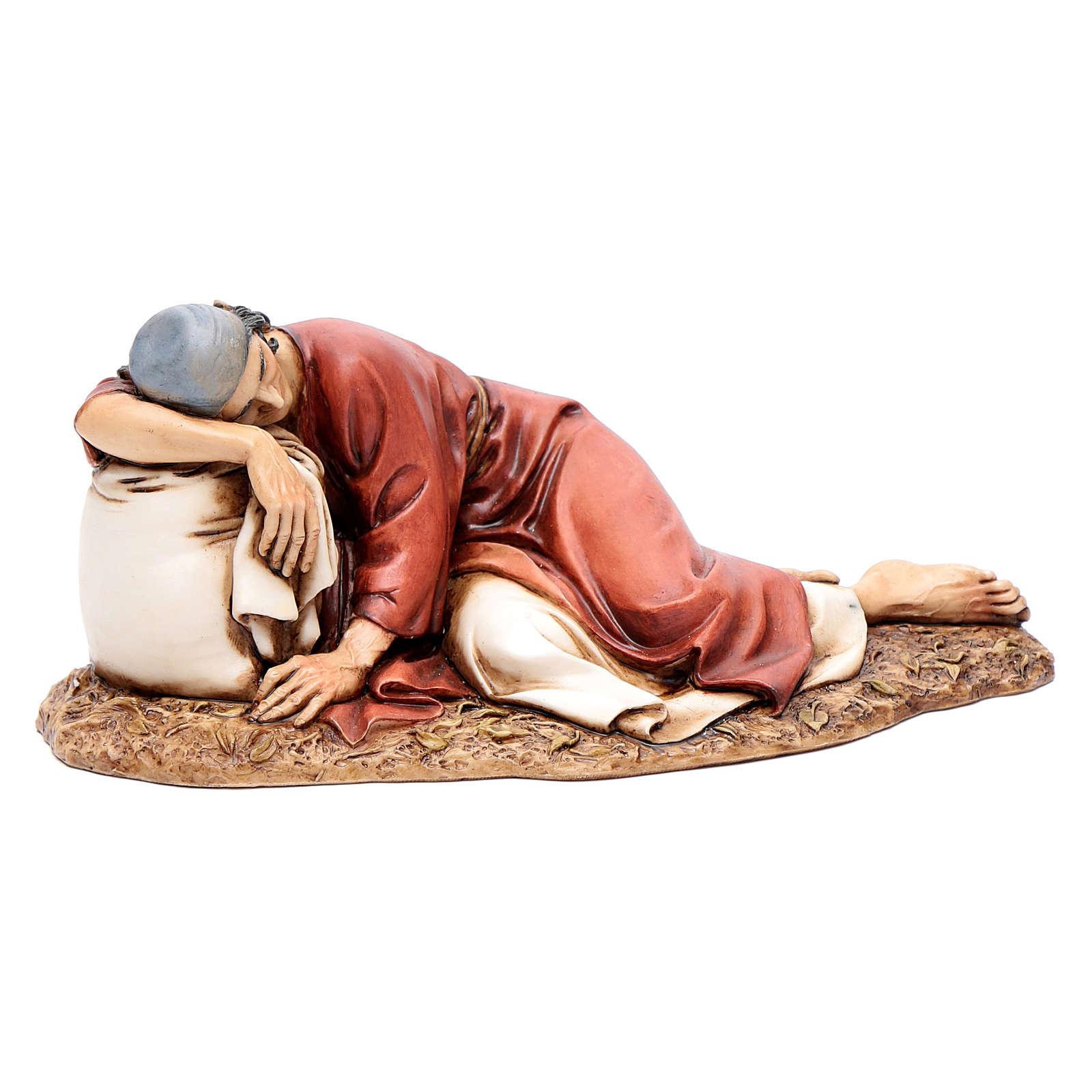 Hombre dormido 20 cm resina Moranduzzo 4