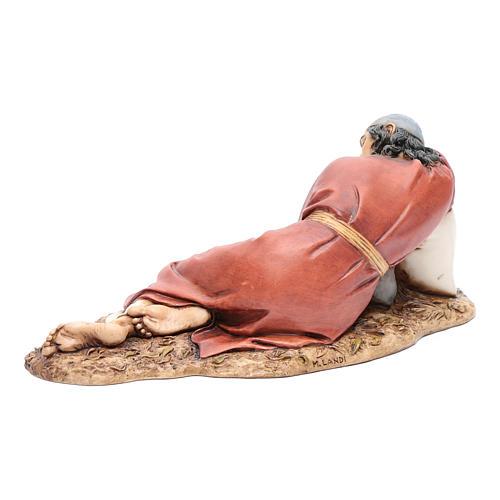 Hombre dormido 20 cm resina Moranduzzo 3