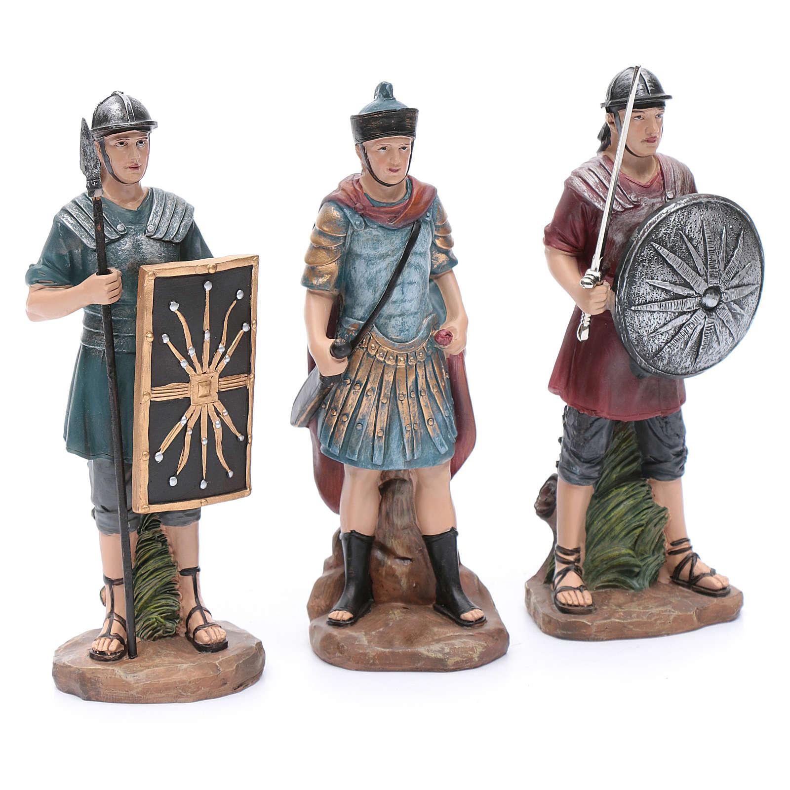 Soldati romani in resina per presepe 20 cm set 3 pz 3