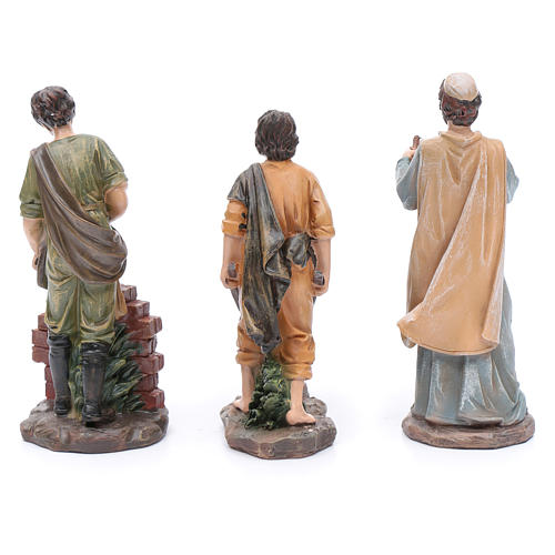 Nativity scene statues resin builders 20 cm 3 pieces set 4