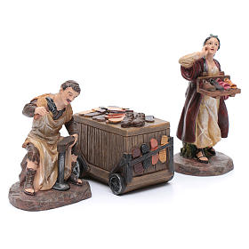 Nativity scene characters shoemakers with counter resin 20 cm set of 3 pieces s3