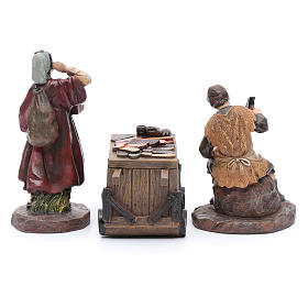 Nativity scene characters shoemakers with counter resin 20 cm set of 3 pieces s4