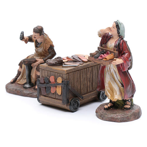 Nativity scene characters shoemakers with counter resin 20 cm set of 3 pieces 2