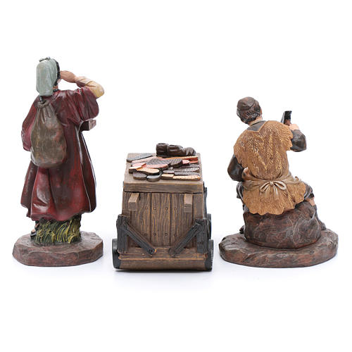 Nativity scene characters shoemakers with counter resin 20 cm set of 3 pieces 4
