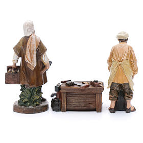 Nativity scene characters carpenters with counter resin 20 cm set of 3 pieces s4